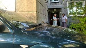 Mandat za parkowanie tuż przed klatką