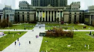 Nowy plac Defilad z zielenią, wodą i przedwojennym akcentem