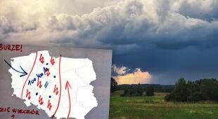 Gwałtowne burze w Polsce