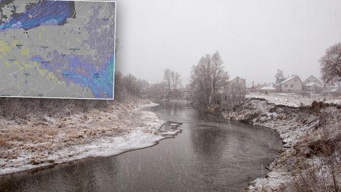 Grudniowy przedsmak zimy. <br />Śnieg w większości kraju i lekki mróz
