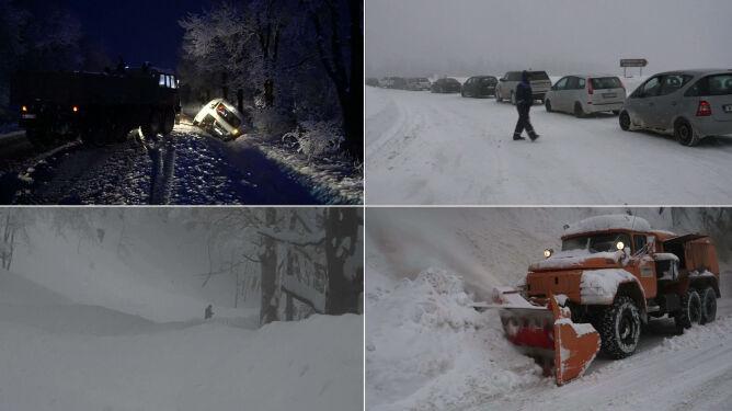 Lawiny zablokowały drogi, auta wylądowały w rowach. Atak zimy w Bułgarii