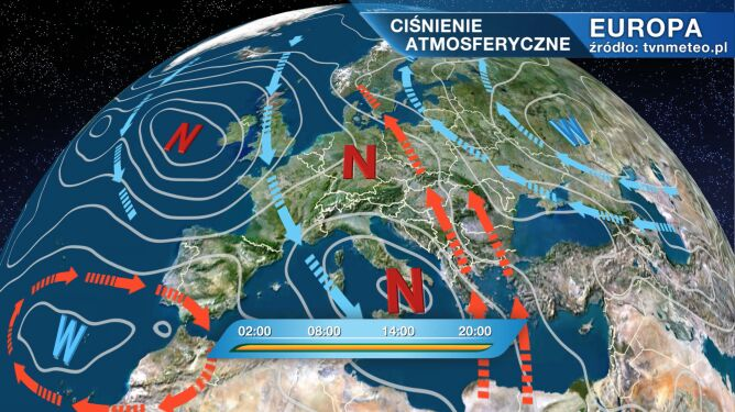 Wyż Quincy wpływa na pogodę w Polsce