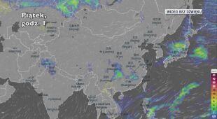 Prognozowane opady w najbliższych dniach w Chinach
